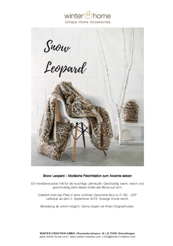 Teaser Winter Snow Leopard